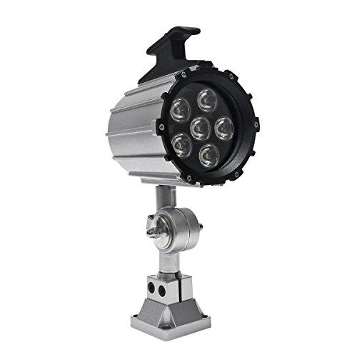 Wisamic 12W LED Werkzeug Drehmaschine Lampe Kurze Arm 110V- 220V Maschinenleuchte Arbeitsleuchte einstellbar Arbeitsscheinwerfer mit 50.000 Stunden Lebensdauer
