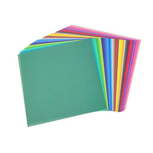 Papel de doble cara para origami de colores para proyectos de arte y manualidades, 100 hojas de 10 x 10 cm