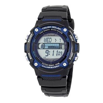 Casio Men s Solar Powered Japanese-Quartz Watch with Resin Strap Black 23  Model  EAW-W-S210H-1AV