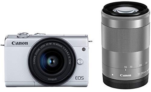 Canon ミラーレス一眼カメラ EOS M200 ダブルズームキット ホワイト EOSM200WH-WZK
