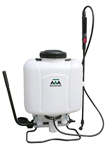 backpack weed sprayers Master Manufacturing BPS-405 4 Gallon Backpack Sprayer-15-90 PSI, Four Spray Tips