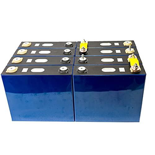 LONGRING 4/8 / 16Pcs Nuevo 3.2V 100AH Lifepo4 Batería Litio Hierro Célula de fosfato Solar 12V / 24V / 48V Paquete de Celdas de Carga móvil Energía Sistema Almacenamiento de energía,8pcs