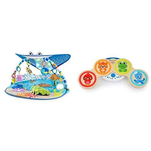 Bright Starts, Disney Baby Gimnasio de Actividades Buscando a Nemo + Baby Einstein Hape Batería Magic Touch, juguete musical madera