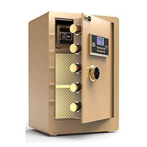 Spezialtresore Wandtresore Password Safe Haus 60cm Büro Safe Klein-Alarmanlage Safe mit eingebautem Safe Anti-Pry Sicher Sicherheitstechnik Tresore (Color : Gold, Size : 38 * 33 * 60cm)