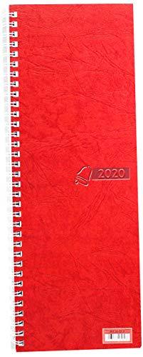 Baier & Schneider Tisch-, Umlegekalender 2020 Vormerkbuch, 1 Woche = 2 Seiten, 100 x 296 mm, Karton, ro