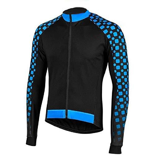 Maillot de ciclismo de manga larga para hombre, ropa de ciclismo MTB Bib camisa deportiva Cool Team Pro Motocross Mountain Jacket Azul azul 3XL
