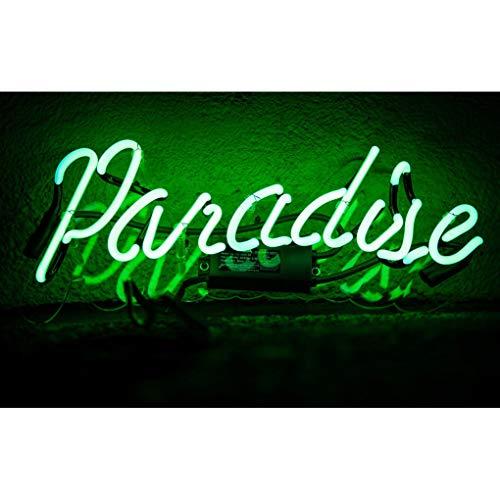 El cielo Lámpara de Neón Para Familia, Dormitorio, Bar, Hotel, decoración del hogar, dormitorios, bares de cerveza, bares, hoteles, tiendas, restaurantes, signos de pared, letrero luminoso (Verde)