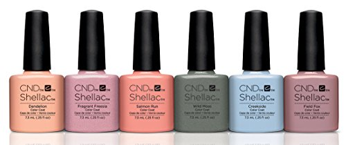 CND Shellac Nagellack, Flora & Fauna Kollektion, Frühling 2015, alle 6 Farben