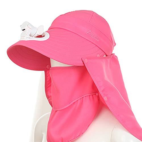 KHXJYC Sombrero para El Sol para Adultos, Gorro De Malla para Exteriores con Ventilador, Sombrero para El Sol Grande Recargable para Tierras De Cultivo con Aleros,#7