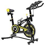 BTM(ビーティーエム) スピンバイク フィットネス エクササイズバイク MS036810 本格トレーニング (イエロー)