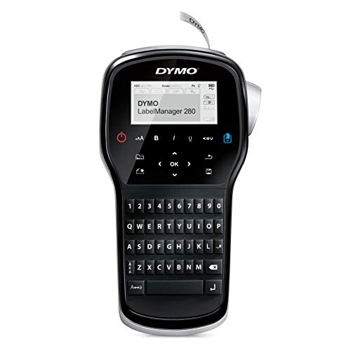 DYMO Label Maker | LabelManager 280 Rechargeable Portable Label Maker, Easy-to-Use, One-Touch Smart Keys, QWERTY Keyboard, PC and Mac Connectivity, for Home & Office Organization