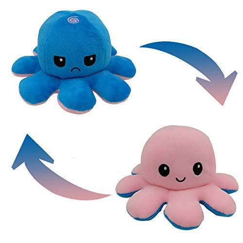 Peluche de Pulpo Reversible-Bonitos Juguetes de Peluche, muñeco de peluche juguetes creativos el Pulpo Reversible Original de Felpa Regalos de Juguete para niños,cumpleaños Navidad LOCN