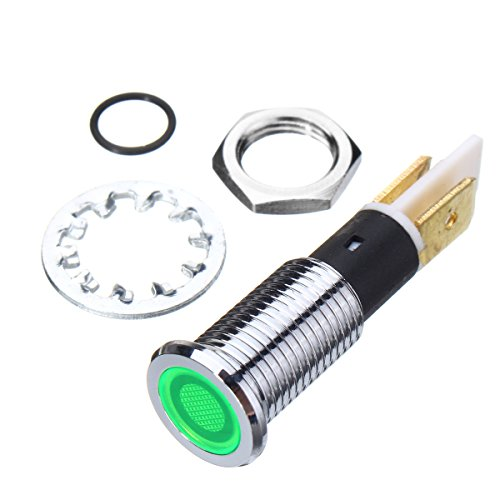 Alamor 12V 10Mm Tableau De Bord LED Indicateur D'Avertissement De Feux De Signalisation-Vert