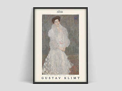 Cartel de Gustav Klimt, Gustav Klimt Hermine Gallia, impresión de Gustav Klimt, cartel de exposición, pintura de lienzo sin marco Q-19 40x60cm