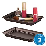 iDesign Countertop Guest Towel Tray, Bathroom Vanity Organizer-Set of 2, Bronze 2 Count