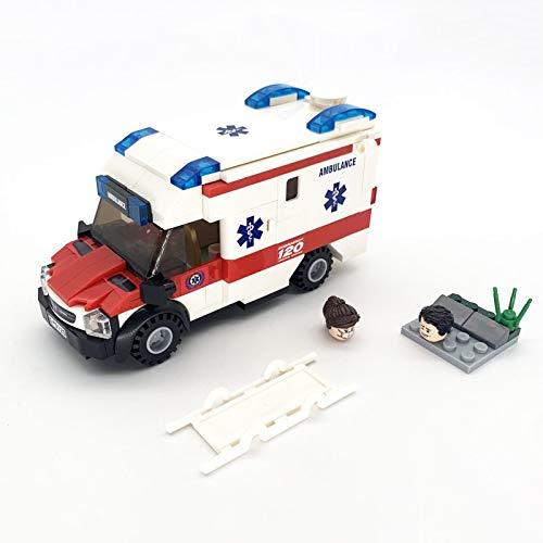 Bloques de construcción Bloques De Construcción Moc Modelo De Coche De Ambulancia Bombero De La Ciudad Figuras De Enfermera Juguetes Educativos Ensamblados para Regalos De Niños