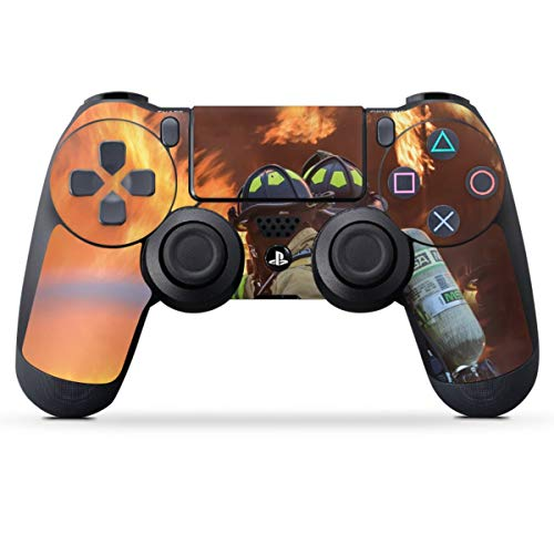 DeinDesign Skin kompatibel mit Sony Playstation 4 PS4 Controller Folie Sticker Feuerwehr Feuer Feuerwehrmann