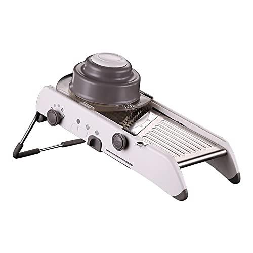 cortadora de verduras Mandoline Slicer ajustable Rallador profesional con 304 cuchillas de...