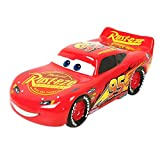 Pixar Cars Lightning McQueen Piggy Bank – Kids Ceramic Coin Bank with Rubber Stoppe