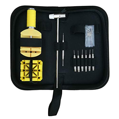 Watch Link Remover Kit, Watch Chain Pin Removal Resizing Tool Kit, 16 Pieces