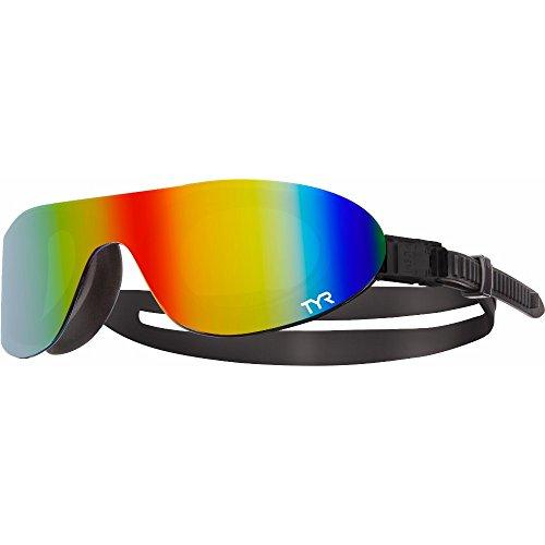 TYR Swim Shades Mirrored Goggles, Rainbow
