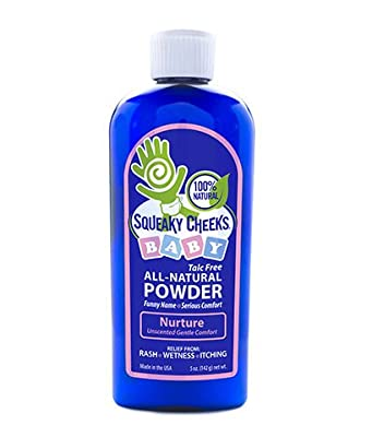 Squeaky Cheeks - All Natural Baby powder - Effective Diaper Rash Powder - Talc Free Baby Powder That Will Prevent Irritation, Also Effective For Adults