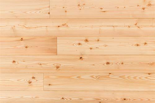 Handmuster Massivdiele Lärche sibirisch, 19 x 137 x 1973 mm, roh, rustikale Sortierung 35,95 € / m²