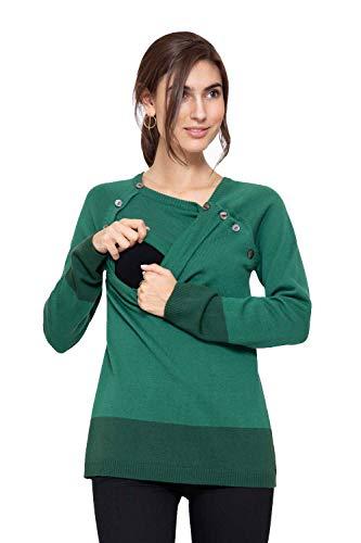 Milker Lea - Pull Grossesse d'allaitement Pine/Green Taille S