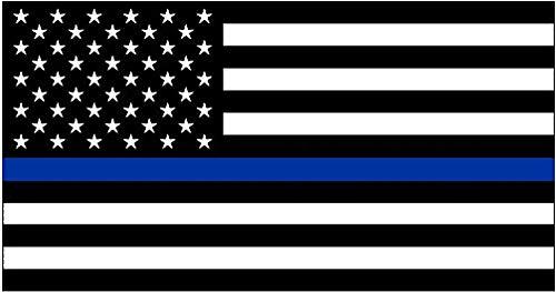 Dunne Blauwe Lijn Blauw Leeft Matter Vlag Sticker Vinyl Decal voor Auto Truck Window Bumper Sticker Ondersteuning van Politie en Rechtshandhavers (3x5)