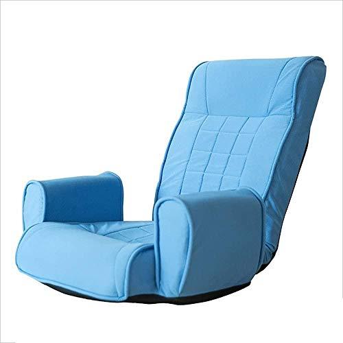 Luie stoel, lounger fauteuil Enkele opklapbare fauteuil Balkon Vrije tijd Lounge Chair Afneembare schoonmaak Zachte tas Luie bank (blauw)