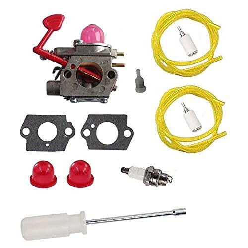 Gmasuber Carburador con kit de herramientas de ajuste Destornillador Tune Up Kit para 545081855 Poulan Pro BVM200C BVM200VS P200C Soplador WT-875 WT-875A