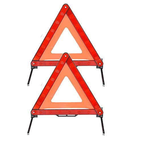 yangyu 2 Piezas Triángulo Reflectante de Advertencia de Emergencia, Triángulo de Advertencia, Reflector de Emergencia Plegable para Carretera, para Advertencias de Emergencia en La Carretera