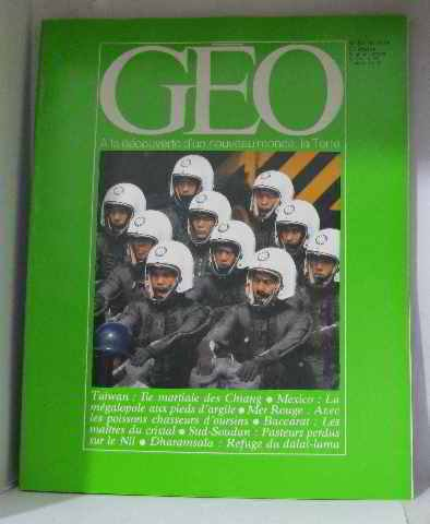 Géo n°8 octobre 1979 Taiwan, Mexico, Mer rouge, Baccarat, Sud-Soudan, Dharamsala