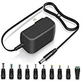 UL Listed 19V Compatible with 18V 18.5V 1A Max Power Supply Multi Jacks Adaptor Replacement Cord Wall Switching AC DC Adapter Regulated Charger for LED Light CCTV Speaker GPS Recorder Transformer Plug