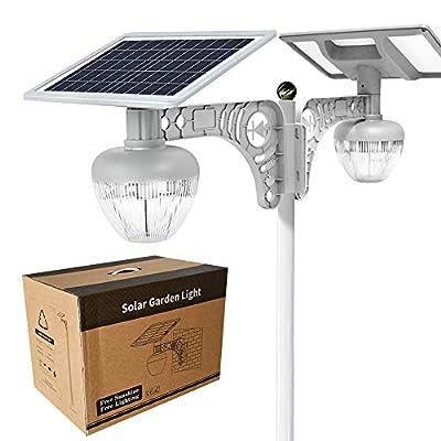 2PACK Solar Garden/Street Light with Rust-Proof Steel Mounting Bracket- Super-Bright 3000 Lumens - NO-Wire Installation Outdoor Solar Landscape Lights/Water-Resistant