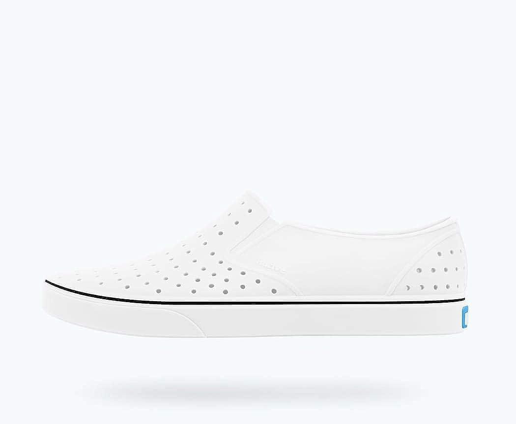 Native Shoes, Miles, Kids Shoe, Shell White/Shell White, 5 M US Toddler
