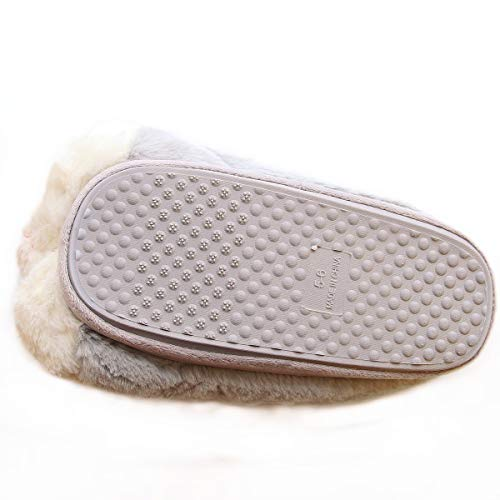 Product Image 7: Caramella Bubble Classic Bunny Slippers Cute Plush Animal Rabbit Slippers Christmas Slippers for Women Grey