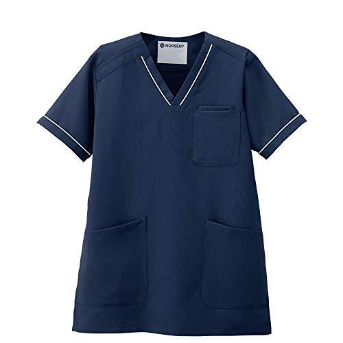 ナースリー ナースリースクラブ(さらりタッチ/ライン) シワになりにくい 医療 看護 ナース 白衣 レディース M ロイヤルブルー 9701204A