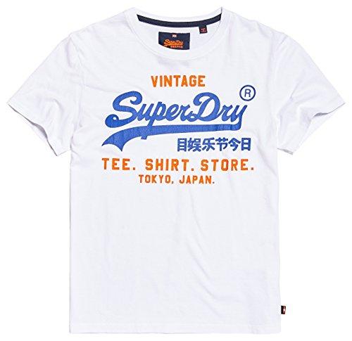 Superdry Men's Shirt Shop Duo Lite Short Sleeve T-Shirt, Optic, M
