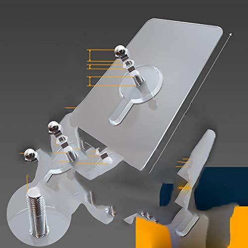 10 ganchos de pared adhesivos fuertes sin costuras, para montaje de clavos, soporte de montaje para clavos, barra de tornillo sin rastro, 10 unidades de 6 mm