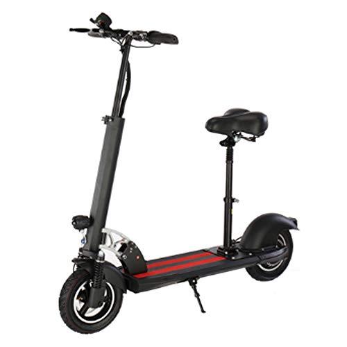 electric bicycle elektrische scooter voor volwassenen opvouwbaar 100 kg maximumbelasting met zitje 10 inch 43 km/h lithium batterij 36 V 15 Ah 500 W motoraandrijving met LED-licht en HD-weergave