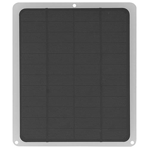 Panel solar, 5W 12V Energía solar de silicio monocristalino con USB, Panel de cargador de batería de teléfono móvil con panel solar SunPower, para carga de teléfono móvil al aire libre