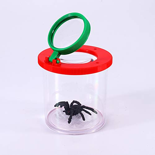maniry 昆虫ビューア ボックス 拡大鏡 昆虫拡大観察ケース 3-6倍 虫眼鏡 昆虫学者 子供のおもちゃ 花葉 昆虫観察 知育玩具 贈り物