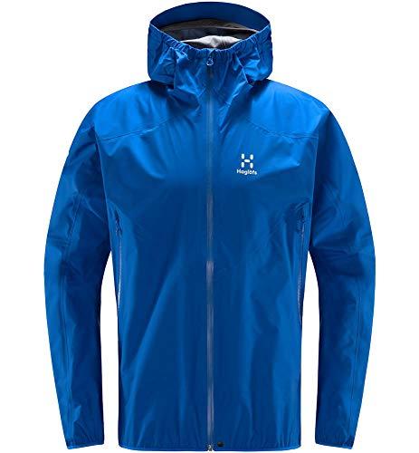 Haglöfs Regenjacke Herren Regenjacke L.I.M Jacket Wasserdicht, Winddicht, Atmungsaktiv Small Storm Blue S S