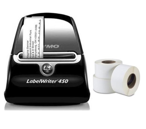 DYMO LabelWriter 450 - Kit stampante di etichette + 3 rulli
