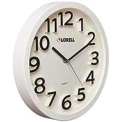 Lorell LLR61006 13 Round Quartz Wall Clock, White