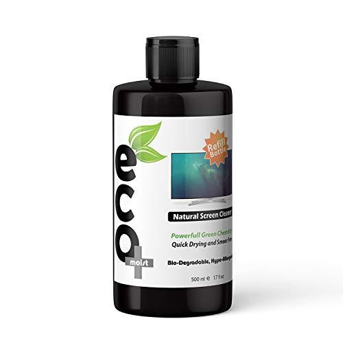 Ecomoist - Kit per la pulizia dello schermo naturale da 500 ml, TV LCD LED per computer, tablet, smartphone e portatili (flacone di ricarica da 500 ml)