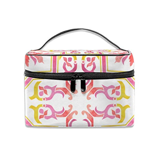 Make-up Taschen Etuis,Kosmetiktaschen Watercolour Tile Repeat Travel Makeup Bag Cosmetic Cases Organizer Portable Storage Bag for Cosmetics Makeup Brushes Toiletry Travel Accessories Travel Daily Car