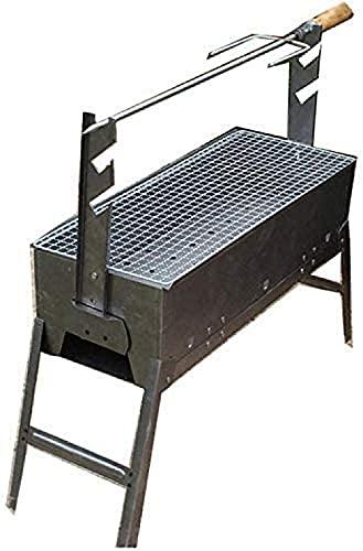 Barbacoa al aire libre Partido de la Familia Carbón Portab Parrilla redonda de dos ruedas Herramientas de Cocina Multi-Función Horno 1-3 Peop Familia Amigos Colagues Camping Picnic JXX