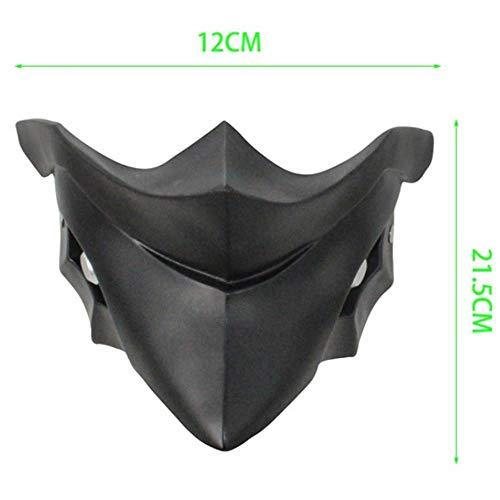 YBBGHH Halloween Harz Halbgesichtsmaske Tokyo Ghoul Maske Kirishima Ayato Gesichtsmaske Requisiten